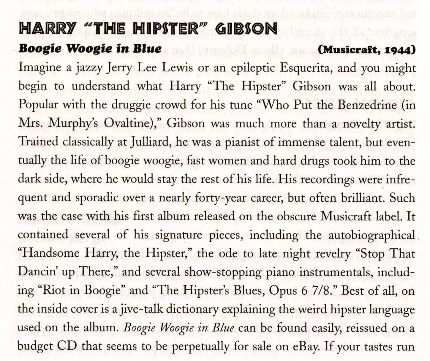 Harry The Hipster Gibson