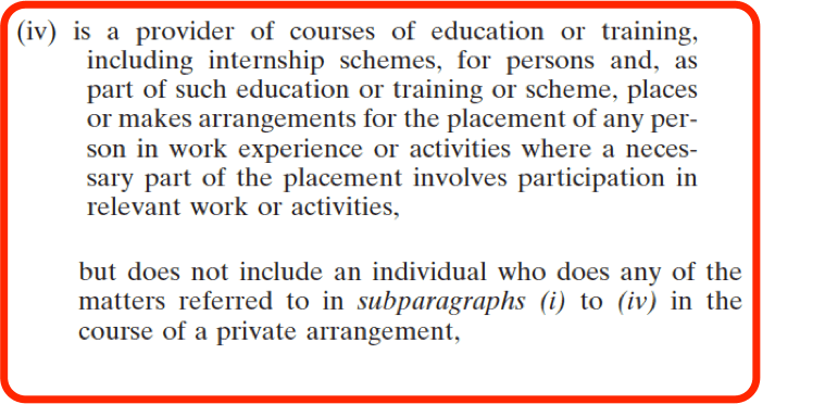 National Vetting Bureau Acts 2012 to 2016 - Organisation Registration - Education and Training