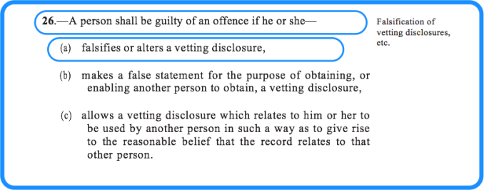 Section 26 of the vetting legislation