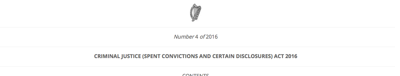 Criminal Justice (Spent Convictions and Certain Disclosures) Act 2016