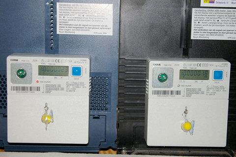 bruto-productiemeter en normale energiemeter
