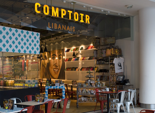 comptoir libanais branding comptoir libanais interior. Black Bedroom Furniture Sets. Home Design Ideas