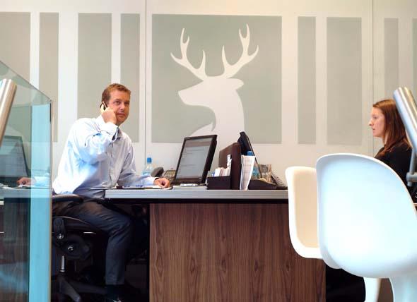 Douglas & Gordon Sales lounge Interior Design