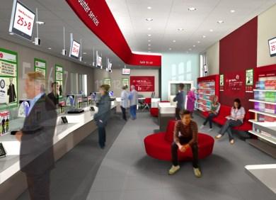 Post office interior design branding post office for Service design agency london