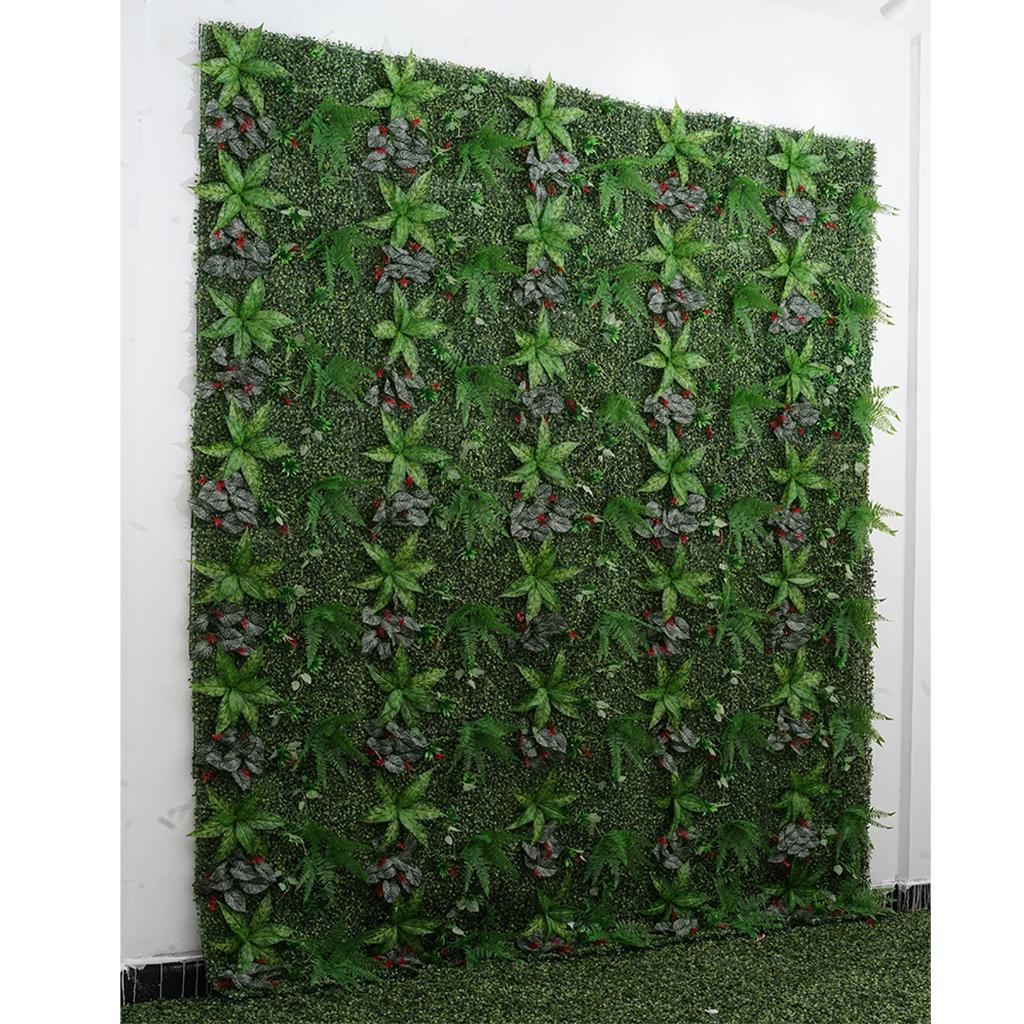 Artificial Plants Greenery Wall Panels Garden Yard Fence ... on Wall Sconces For Greenery Decoration id=26770