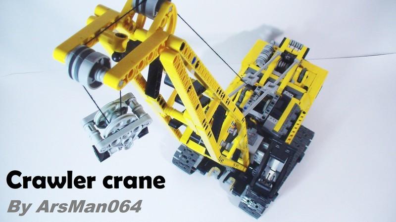Lego technic Crawler crane MOC
