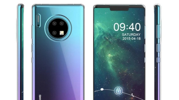 Huawei Mate 30 Pro and its waterfall display star in new live photo