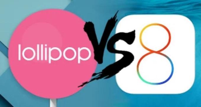 Segundo um relatório o Android Lollipop é mais estável que iOS 8 1
