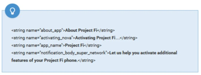 Project Fi is another name seen in the code