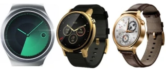 Samsung Gear S2 vs Moto 360 (2015) vs Huawei Watch: specs comparison