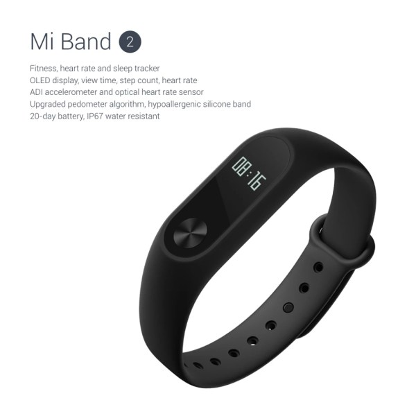 Xiaomi Mi Band 2 unveiled: $20 fitness band with OLED ...