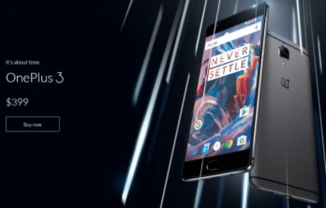 OnePlus 3 price, release date and country availability
