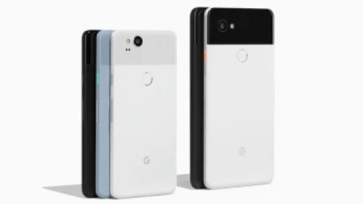 Pixel 2 XL on the right