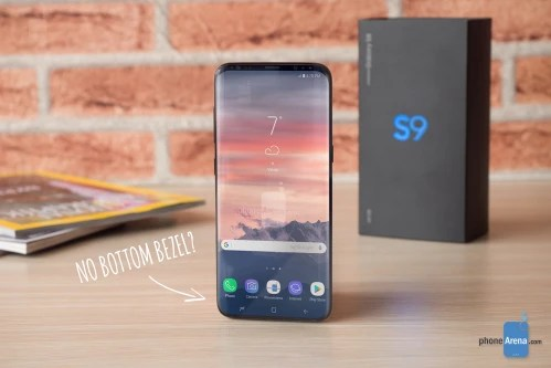 Galaxy S9 concept with no bottom bezel