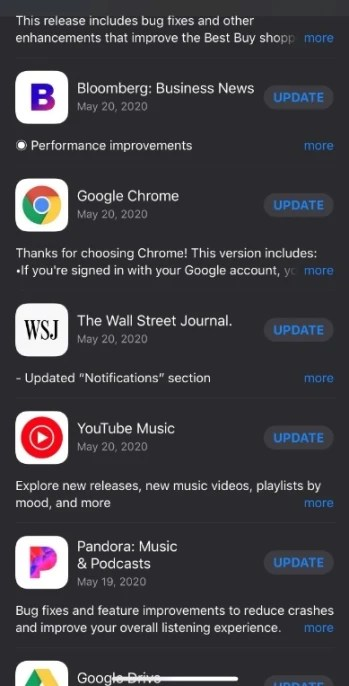 Some iOS users were prompted to update apps that were just updated the other day - Some iOS users were sent the same updates twice within days