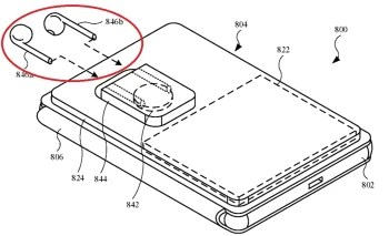 Illustration from the patent application shows a MagSafe battery case with AirPods holders - Patent application reveals Apple's plans for its MagSafe line of iPhone accessories
