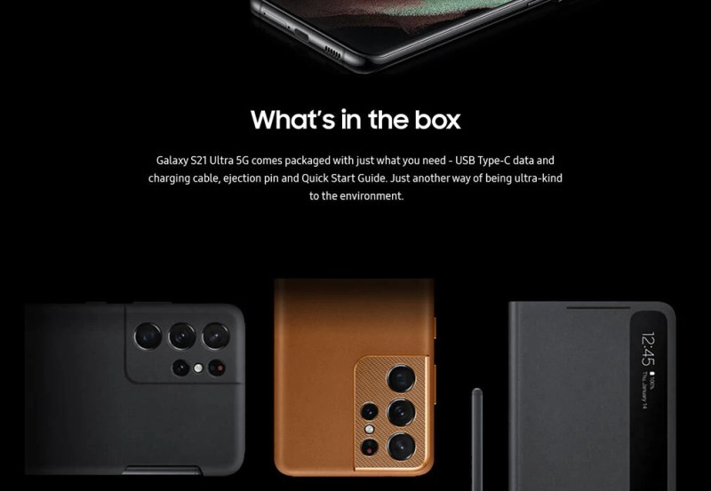 The S21 models would indeed come with no charger ot earbuds - All Galaxy S21 vs S21+ vs S21 Ultra specs revealed in a last-minute leak