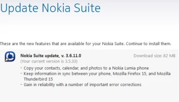 Nokia Suite 3.6 now supports Lumia phones, lets you sync your Microsoft Outlook info