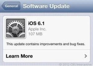 Apple has released iOS 6.1