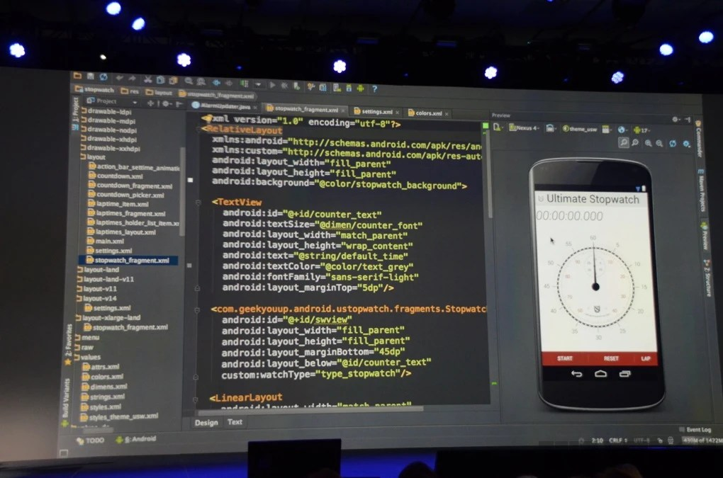 Images courtesy of TheVerge - Google unveils Android Studio: new smart IntelliJ-based IDE