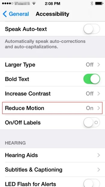 How to disable the iOS 7 parallax effect