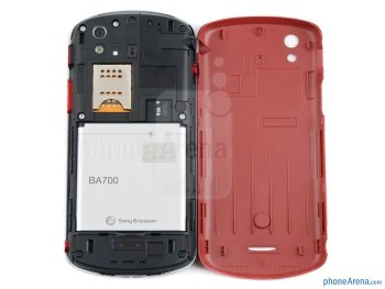 Battery compartment - Sony Ericsson Xperia pro Review