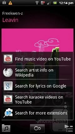 The music player is pretty and minimalistic - Sony Ericsson Xperia pro Review