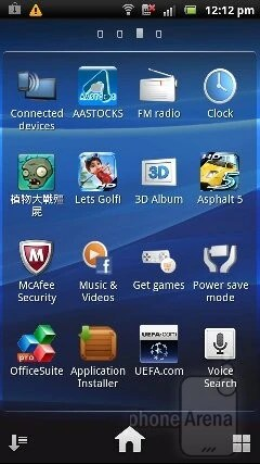 The Timescape UX interface of the Sony Ericsson Xperia pro - Sony Ericsson Xperia pro Review