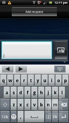 Virtual keyboard - Sony Ericsson Xperia pro Review