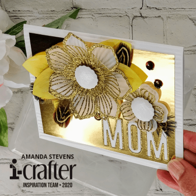 Flower Burst Mother's Day Die Cut Card Amanda Stevens