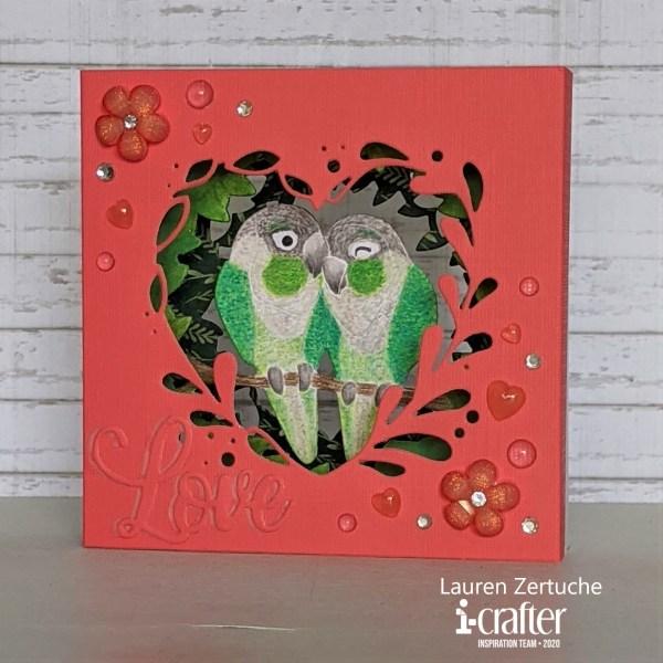 Tunnel Card, Love Birds