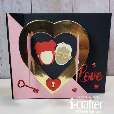 Flip Card, Heart Blooms