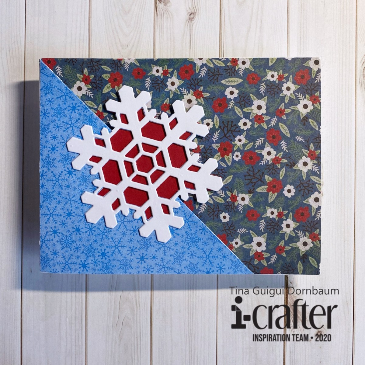 Flip card snowflake i-crafter