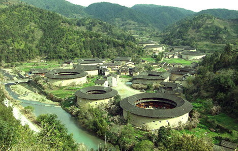 tulou concealed ancient chinese fortress Hekeng tulou cluster