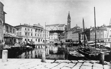 Piran Slovenia Town Square before 1894.