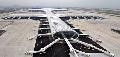 Shenzhen Low Carbon City Shenzhen Airport - designed by Massimiliano Fuksas