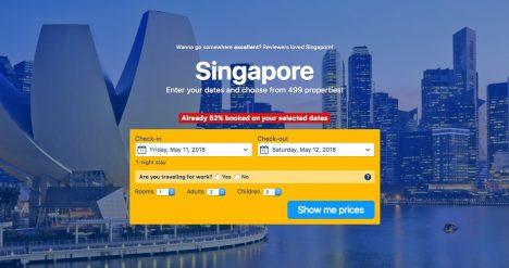 Book a hotel in Singapore.