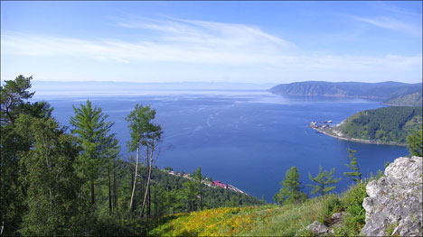 Remote travel destination Lake Baikal not so easy to get here