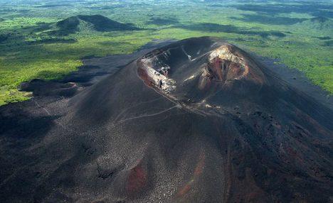 Volcano Boarding Nicaragua Cerro Negro volcano near Leon, Nicaragua