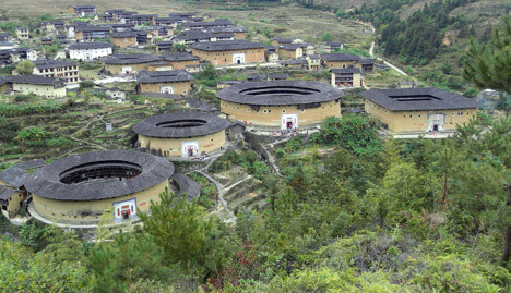tulou concealed ancient chinese fortress Chuxi tulou cluster