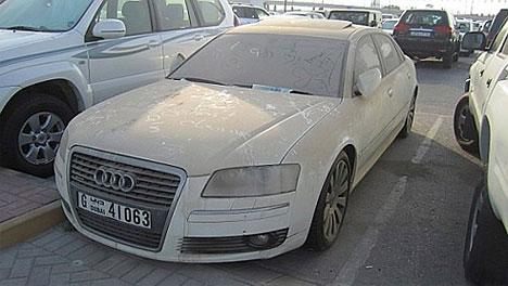 Dubais abandoned cars: Audi
