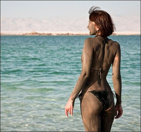 Dead Sea, Jordan. Cover you body with mud. A great treatment for your skin