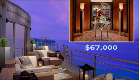most expensive hotel room