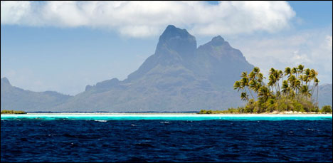 Most remote travel destination Tahiti