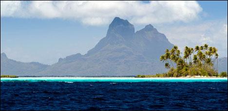 Most remote travel destination Tahiti