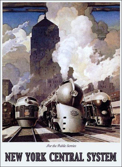 Vintage tourist poster New York Central System
