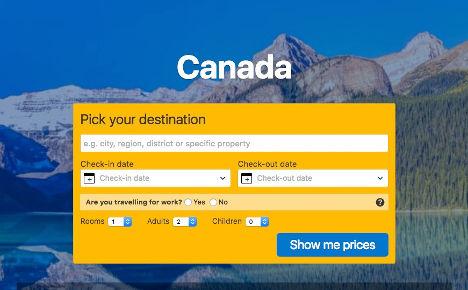 Canada pick a destination here