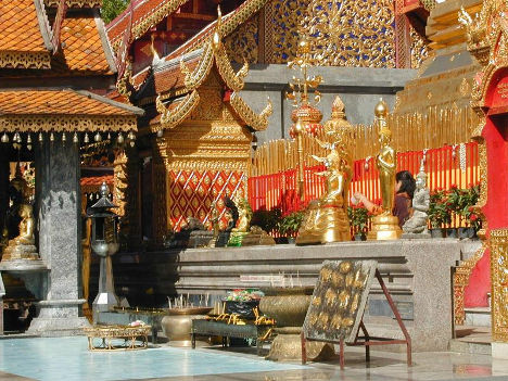 Hidden Gem Chiang Mai - Wat Doi Suthep courtyard