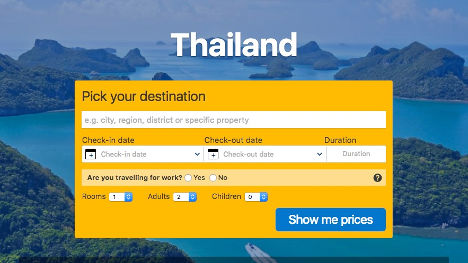 Book a hotel in Thailand