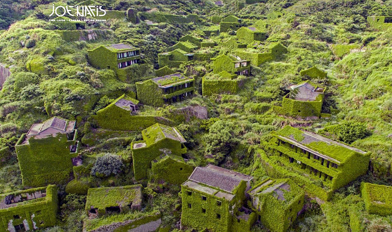 abandoned Houtouwan Village Joe Nafis aerial view